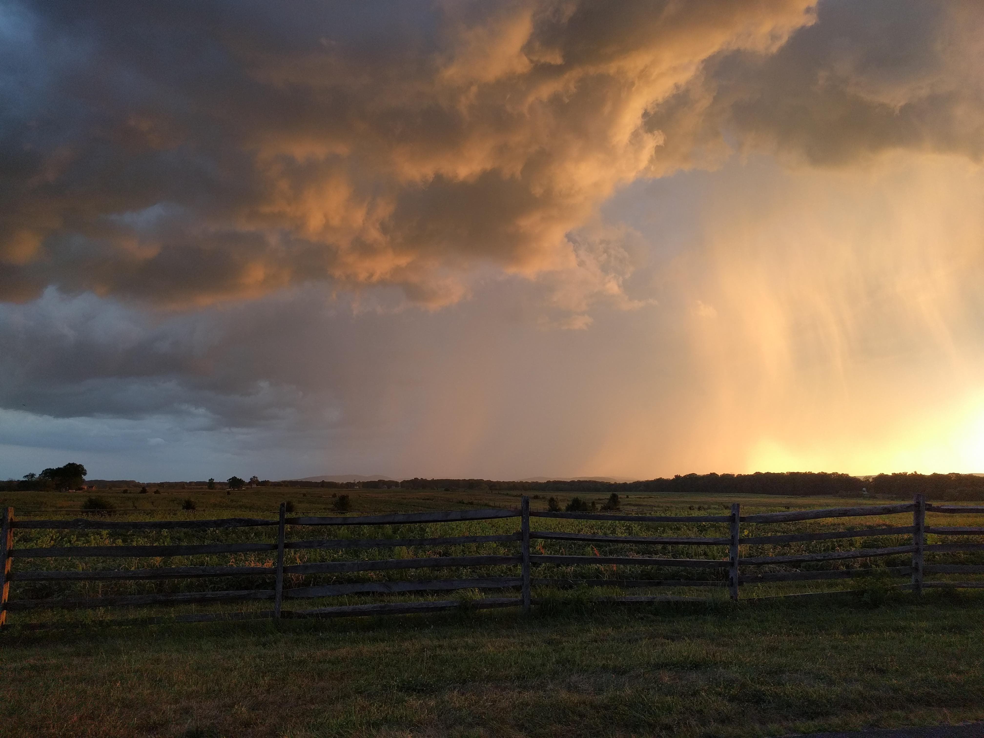 Sunset in Gettysburg PA